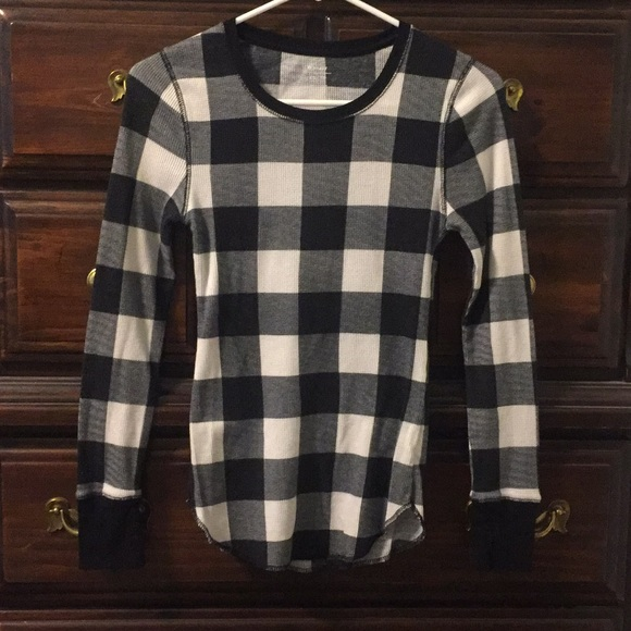 Old Navy Tops Black And White Checkered Sweater Poshmark
